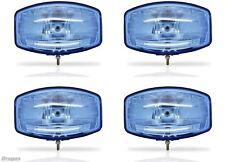 """4x 24 V 9.5"""" Jumbo Oval Azul ABS Spot Lámpara + LED Camión Scania Volvo DAF MAN"""