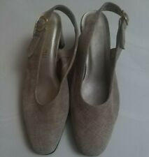 Magdesians California Vintage Slingback Women Shoes Us 7 in Beige color