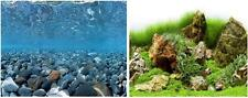"20"" x 48"" Double Sided Fish Tank Aquarium Background Cobblestone/Green Landscape"