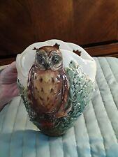 Royal Doulton Owl Wallpocket Vintage Rare