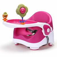 Travel Feeding Booster Seat Toddler Highchair Portable Travel High Chair, Pink