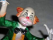 "7"" Original Depose FONTANINI Waiter Clown Statue~MINT"