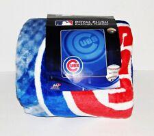 MLB Chicago Cubs Throw Blanket Plush Retro Style NEW