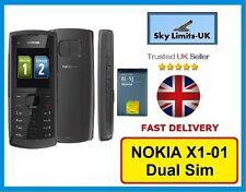 Black & Grey New Condition Nokia X1-01 Dual Sim Unlocked Mobile Phone Brand GSM