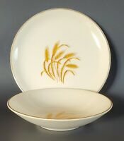 Golden Wheat Fruit Bowl & Bread Plate Set 22 K Gold Trim Homer Laughlin USA