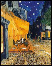 Vincent van Gogh Cafe-Terrasse am Abend Poster Kunstdruck im Alu Rahmen 90x70cm