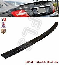 MERCEDES C CLASS W204 COUPE 2D AMG REAR TRUNK BOOT LIP SPOILER 08-13 GLOSS BLACK
