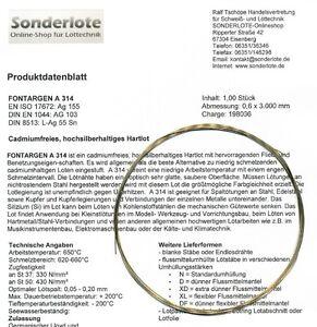 Silberlot Silberhartlot Silberlotdraht 55 % Ag diverse Abmessungen und Längen