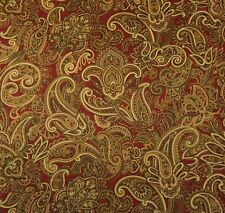 "MILL CREEK APOLIMA TAMARILLO D4095 PAISLEY SATEEN MULTIUSE FABRIC BY YARD 54""W"