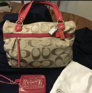 COACH  Handbag With Bonus Poppy Wristlet
