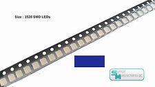Pack of 100 Blue 1210 PLCC-2 3528 SMD SMT LED Light Chip