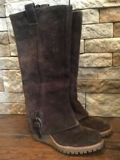 521bfcff140 ASH Italia Hannah BROWN Suede Leather Boots ~  260 Retail ~ Size  7 1