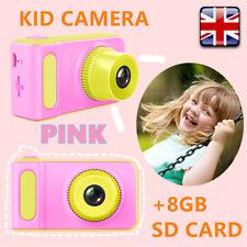 "Pink Waterproof Kid Digital HD Camera 2"" Display Gift For Children+8GB SD Card"