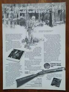 1980 CVA Frontier Rifle .45 Cal. Photo Art Illustration Vintage Print Ad