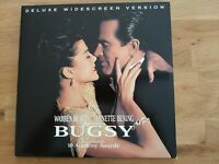 Bugsy (Crime Drama Warren Beatty Bening Keitel Morricone 2x US Laserdisc 1992!!)