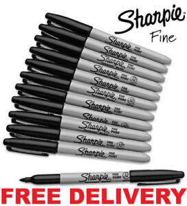 SHARPIE Black FINE Point Bullet Tip Permanent Marker Pens Pack 2,4,6,8,10,12,24