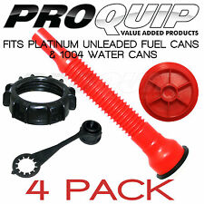 PRO QUIP Platinum Fuel Unleaded Fuel Can Accessories - 4 Pack