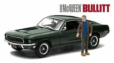 GREENLIGHT HOLLYWOOD 1968 FORD MUSTANG GT WITH STEVE MCQUEEN FIGURE 1/43 86433