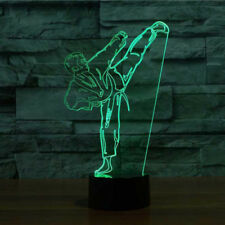 3D Karate Night Light 7 Color Change LED Desk Lamp Touch Room Decor Gift