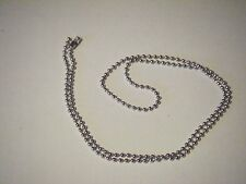 """10 PIECE~~ 24"""" INCH ANTIQUE SILVER BALL CHAIN NECKLACES"""