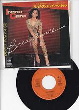 "IRENE CARA - BREAKDANCE -7"" Japan CBS Sony 07SP 803 Giorgio Moroder Keith Forsey"