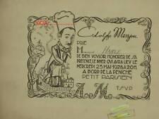 Adolphe MENJOU - INVITATION -1928 - M. OLLIER-PARAMOUNT