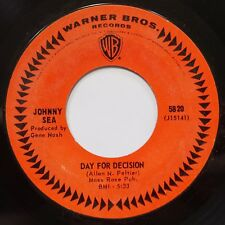 JOHNNY SEA: DAY FOR DECISION country SPOKEN WORD rockabilly 45 ~CASH SOUND hear