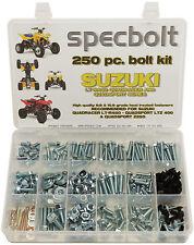 250pc Bolt Kit Suzuki LT450R LT-R450 Z400 LT250 ATV Fender Body Plastic Motor