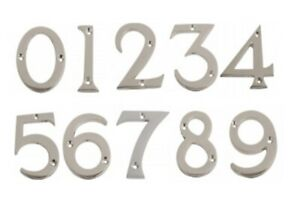"""Polished Chrome Door Numbers & Letters 3"""" ( 75 mm )   House Flat Apartment Shop"""
