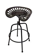 bulk 2 TRACTOR CAST IRON SEAT CHAIR BAR STOOL OUTDOOR CAFE RESTAURANT BLACK