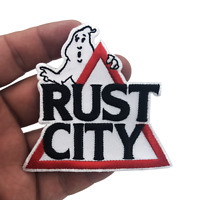 """Rust City Ghostbusters Patch 3.25"""" with quality thickness and proper thread dire"""