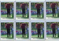 LOT OF (8) 2001 UPPER DECK GOLF #1 TIGER WOODS ROOKIE CARD RC's, PGA GOLF