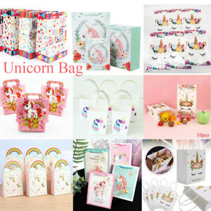 Easter Paper Unicorn Bag Candy Box Treat Gift Loot Bags Birthday Party Favour UK