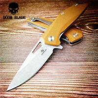 D2 Blade Ball Bearing Knives G10 Handle Folding Camp Hunting Pocket Outdoor EDC