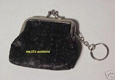 BLACK COIN PURSE WITH KEY CHAIN ~ SPARKLES ~ NEW!