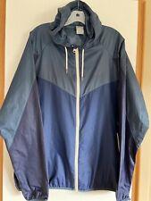 Nike Sportswear Men's Windbreaker Jacket Size XL Blue Hooded