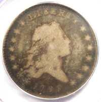 1795 Flowing Hair Half Dollar 50C Coin O-115 R5 - PCGS VG8 - $1,900 Value!