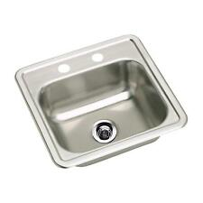 Elkay Neptune 15 in Top Mount Stainless Steel Bar Sink NES15152