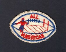 VINTAGE FOOTBALL All American EMBROIDERED FELT PATCH Red White & Blue