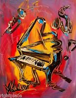 GRAND PIANO   ORIGINAL OIL Painting  Stretched Canvas Modern Abstract
