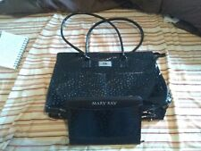 New Mary Kay Large Tote Consultant Bag+Large Organizer Clutch Black Lot of 2