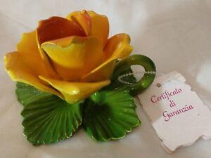 Certificato Di Garanzia Ceramic Tealight Candle Holder Made in Italy