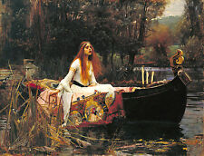"The Lady Of Shalott by John William Waterhouse, 8""x10.5"", Canvas Print"