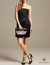 NWT Banana Republic New $130 Women BR Monogram Strapless Shine Dress Size 4