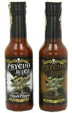 Dr Burnorium Set Of 2 Psycho Juice Chipotle & Extreme Ghost Pepper Hot Sauces