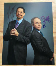 PENN AND TELLER DUAL SIGNED AUTOGRAPHED 8X10 PHOTO! MAGICIANS & ILLUSIONISTS!