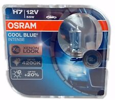 H7 OSRAM Cool Blue INTENSE 4200K PX26d headlight bulbs 64210CBI-HCB