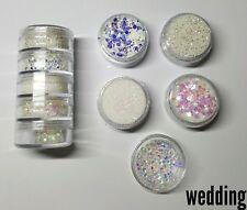 Nail glitter white wedding 5g stacker