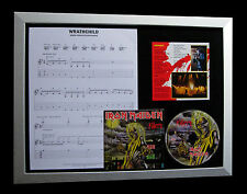 IRON MAIDEN Wrathchild GALLERY QUALITY CD LTD FRAMED DISPLAY+EXPRESS GLOBAL SHIP