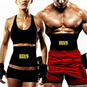 New Sweat Belt Men Women Tummy Waist Cincher Waist Trainer Hot Body Shaper Slim